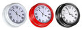 Three street clocks Royalty Free Stock Image