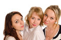 Three stylish college students Royalty Free Stock Photo