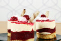 Three sweet raspberry cake