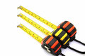 Three tape measure Royalty Free Stock Photo