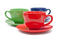 Three tea cups Royalty Free Stock Image