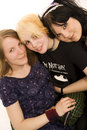 Three teen girls Royalty Free Stock Photos