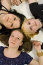 Three teen girls Stock Photo