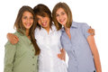 Three teenage girls Stock Image