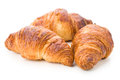 Three tender croissants, isolated Royalty Free Stock Photo