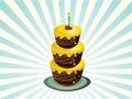 Three tier birthday cake Stock Photography