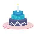 Three tier Cake illustration