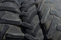 Three tires larger size the tread pattern Stock Photography