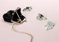 Three toads from one hundred euro banknotes catch with purse soft focus Stock Photos