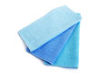 Three towels blue isolated on white background Royalty Free Stock Image