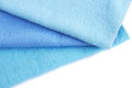 Three towels blue isolated on white background Royalty Free Stock Photo