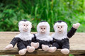 Three toy monkeys Royalty Free Stock Photo