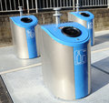 Three trash cans Stock Image