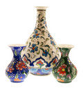 Three Turkish vase Royalty Free Stock Photo