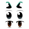 Three types of eyes different in a white background Royalty Free Stock Image