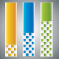 Three universal banner Royalty Free Stock Images