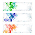 Three vector abstract banner set of Royalty Free Stock Image