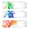 Three vector abstract banner set of Stock Photos