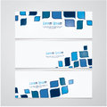 Three vector banners in retro design. Much space for your text o Royalty Free Stock Photo