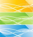 Three vector bright banners