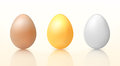 Three vector easter eggs Stock Photography