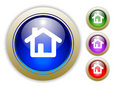Three Vector Home Button Illustrations Royalty Free Stock Photo