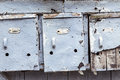 Three very old and mailboxes Royalty Free Stock Photo