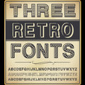 Three vintage fonts vector set Royalty Free Stock Photos