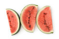 Three Watermelon Slices Stock Photos