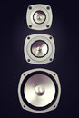 Three Way Big Audio Stereo Loud Speaker Royalty Free Stock Photo