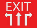 Three way for exit sign concept Stock Images