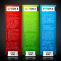 Three web banners. EPS10 vector template Royalty Free Stock Photo