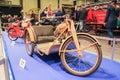 Three-wheeled retro motocross. Royalty Free Stock Photo