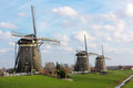 Three Windmills Stock Photo