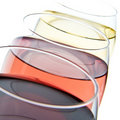 Three wine glasses Royalty Free Stock Photography