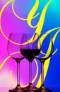 Three wine glasses abstract Royalty Free Stock Photo