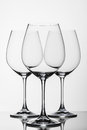 Three wine glasses white Royalty Free Stock Images