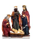 The three wise men and baby Jesus Royalty Free Stock Photo