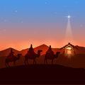 Three wise men and Christmas star Royalty Free Stock Photo