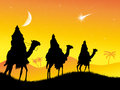 Three wise men illustration of Royalty Free Stock Images