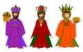 Three wise men Royalty Free Stock Photo