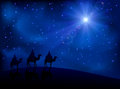 Three wise men and star Royalty Free Stock Photo