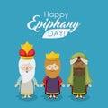 The three wisemen cartoon design Royalty Free Stock Photo