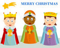 Three Wisemen Christmas Card Royalty Free Stock Photo