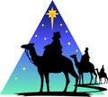Three Wisemen Silhouette/eps Royalty Free Stock Photo