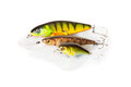 Three wobbler for fishing Royalty Free Stock Photo