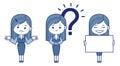 Three women is secretaries vector illustration Stock Image