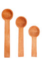 Three wooden spoons Stock Image