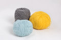 Three wool balls Royalty Free Stock Photos