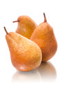 Three yellow pears Royalty Free Stock Photography